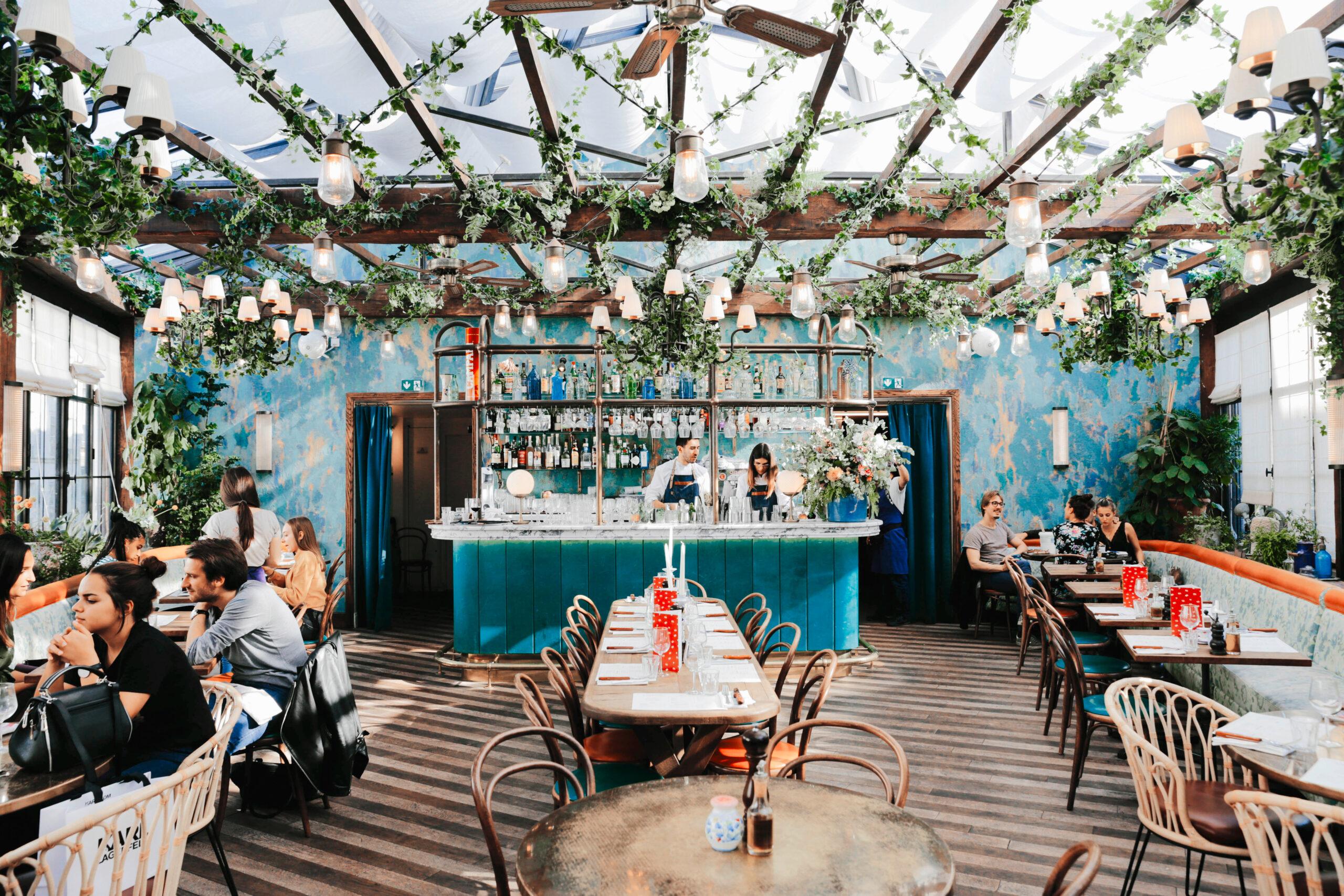 Paris,,France,-,October,,13,,2019:,Pink,Mamma,Restaurant,In